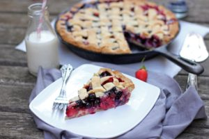 Strawberry and Blueberry Custard Pie | Butter Baking