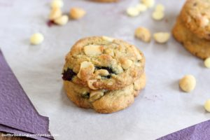 Blueberry, Macadamia and White Chocolate Chip Cookies | Butter Baking