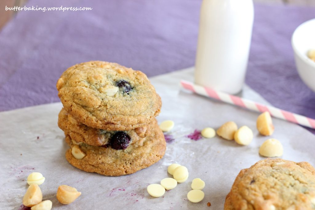 Blueberry, Macadamia and White Chocolate Chip Cookies   Butter Baking