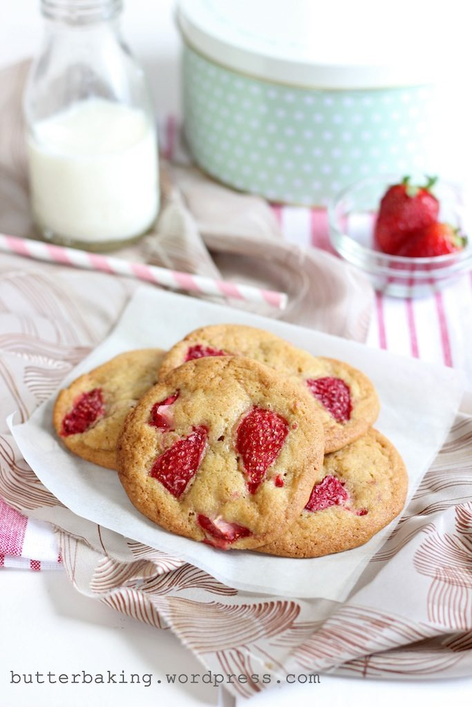Strawberry Cookies | Butter Baking