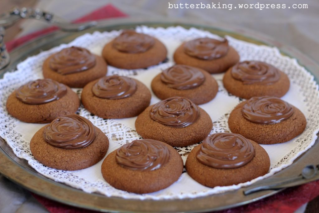 Mocha Nutella Thumbprint Cookies | Butter Baking