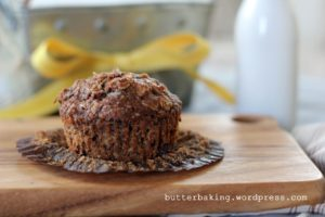 Healthy Double Chocolate Breakfast Muffins | Butter Baking