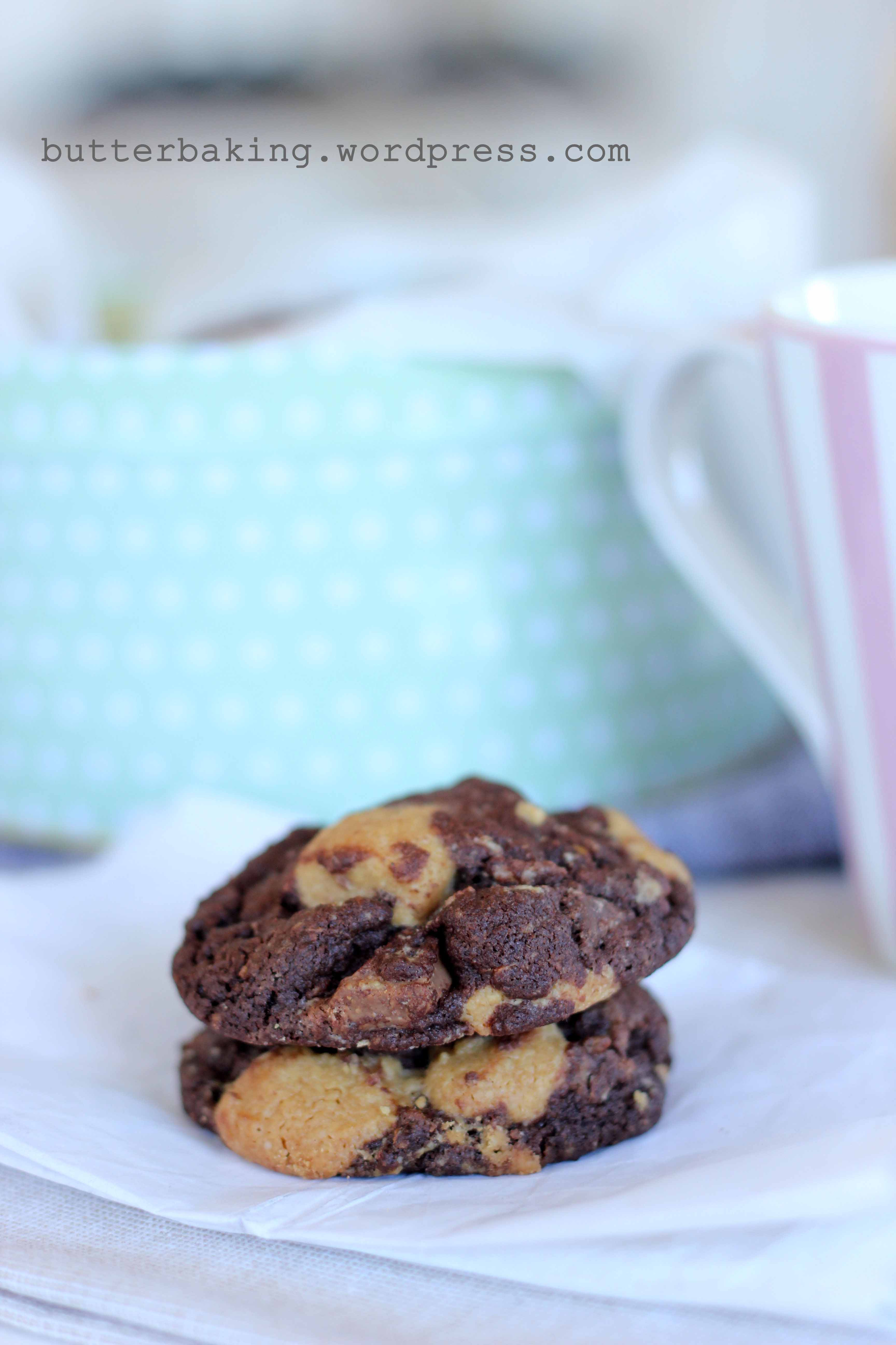 Peanut Butter Ritz Double Chocolate Chunk Cookies | Butter Baking