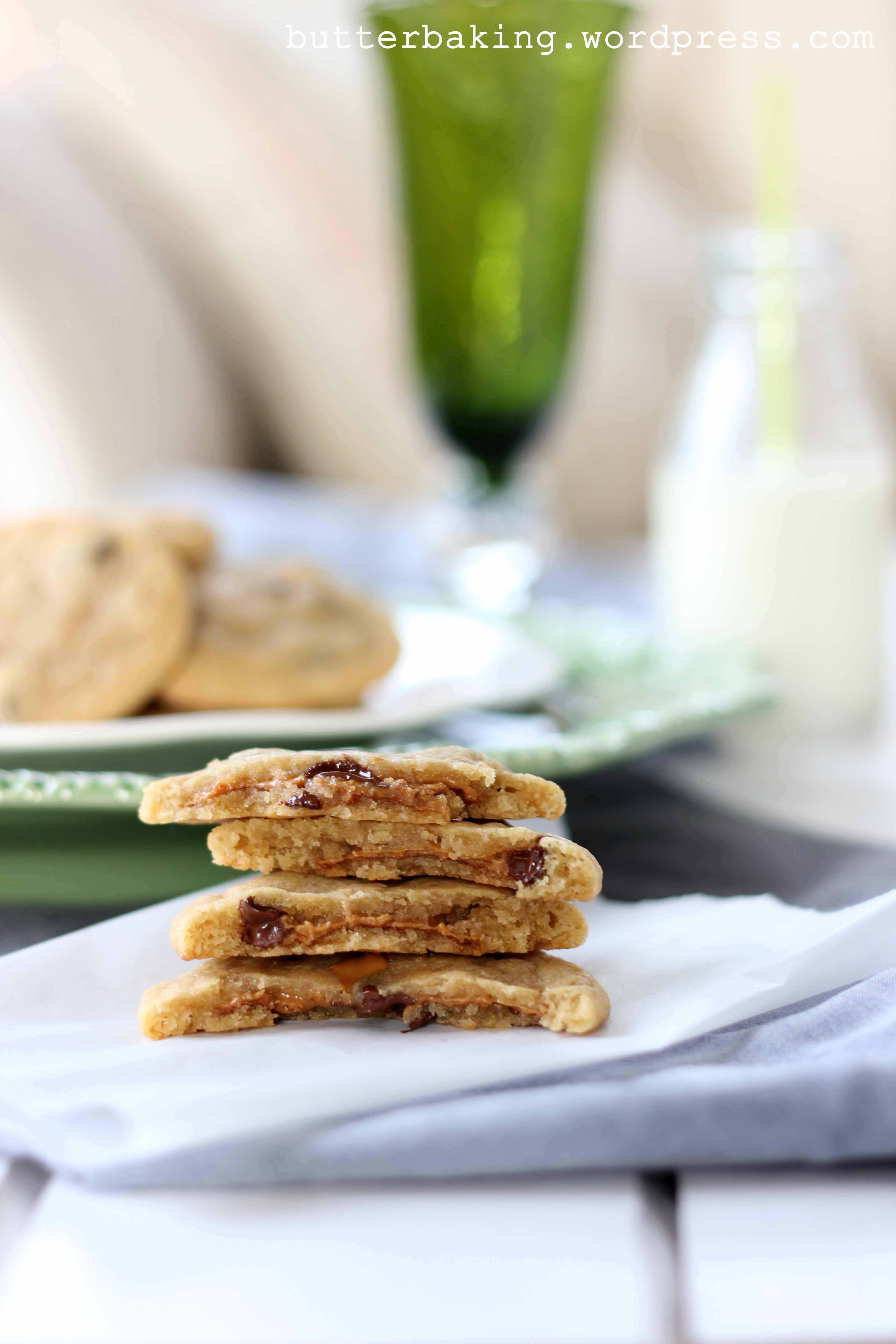Biscoff Stuffed Chocolate Chip Cookies | Butter Baking