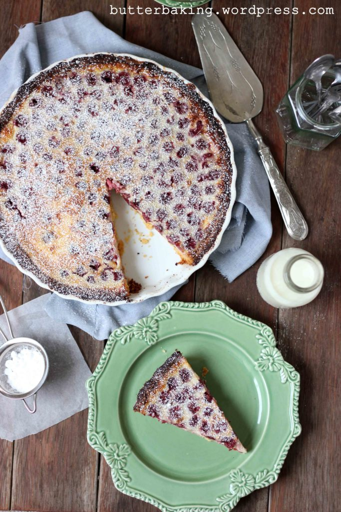 Cherry Clafoutis Tart | Butter Baking