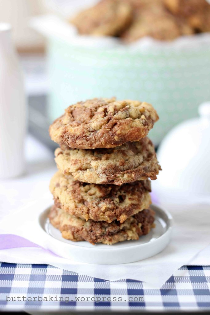 Nutella Swirled Wholewheat Cookies   Butter Baking