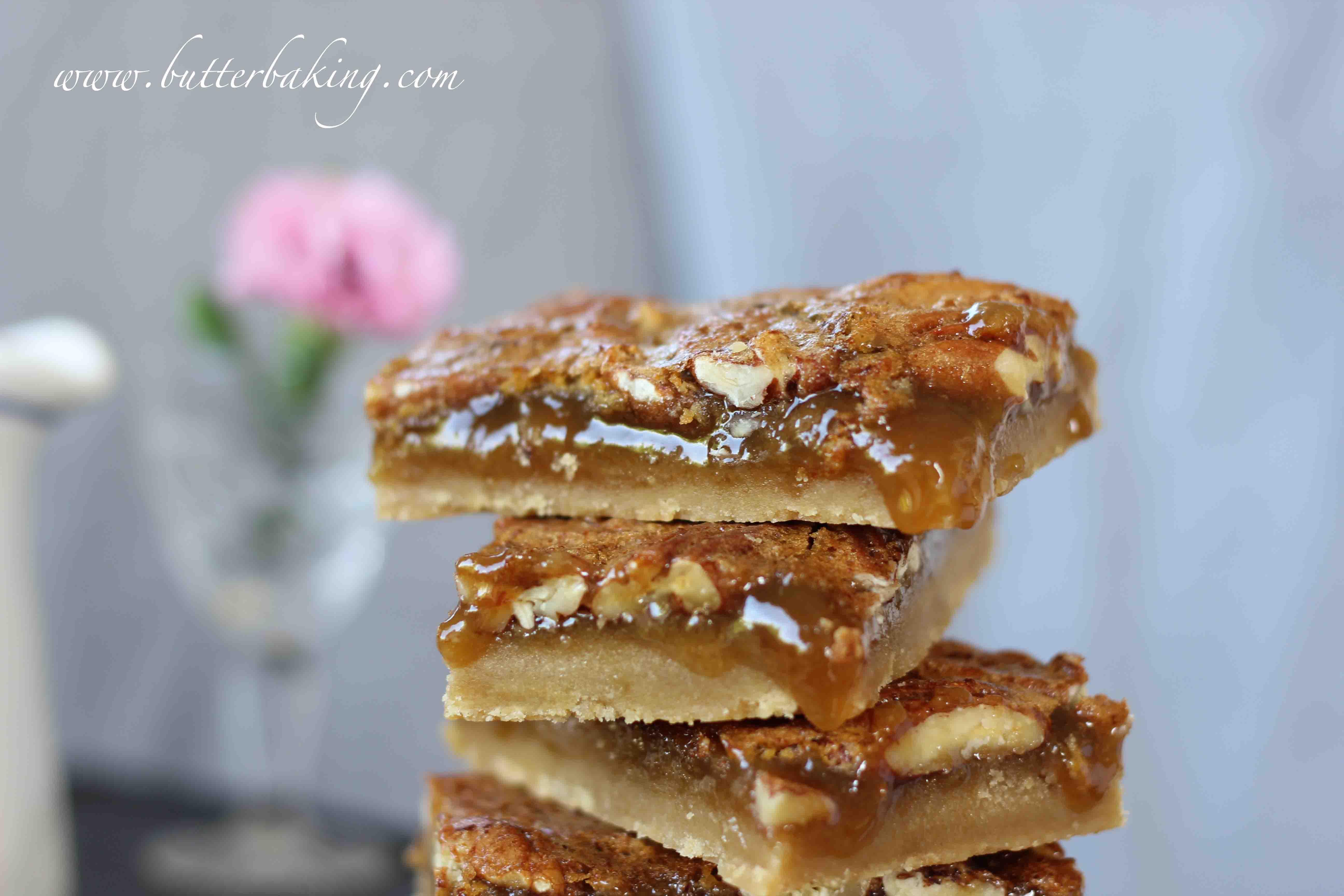 Maple Pecan Pie Bars | Butter Baking