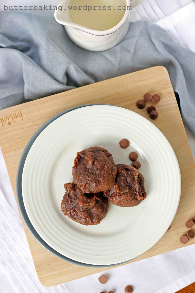 Healthy Double Choc Chip Peanut Butter Protein Cookie Dough Balls | Butter Baking