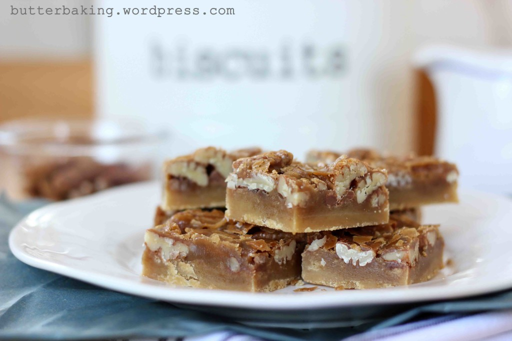 Caramel Pecan Shortbread Pie Bars | Butter Baking