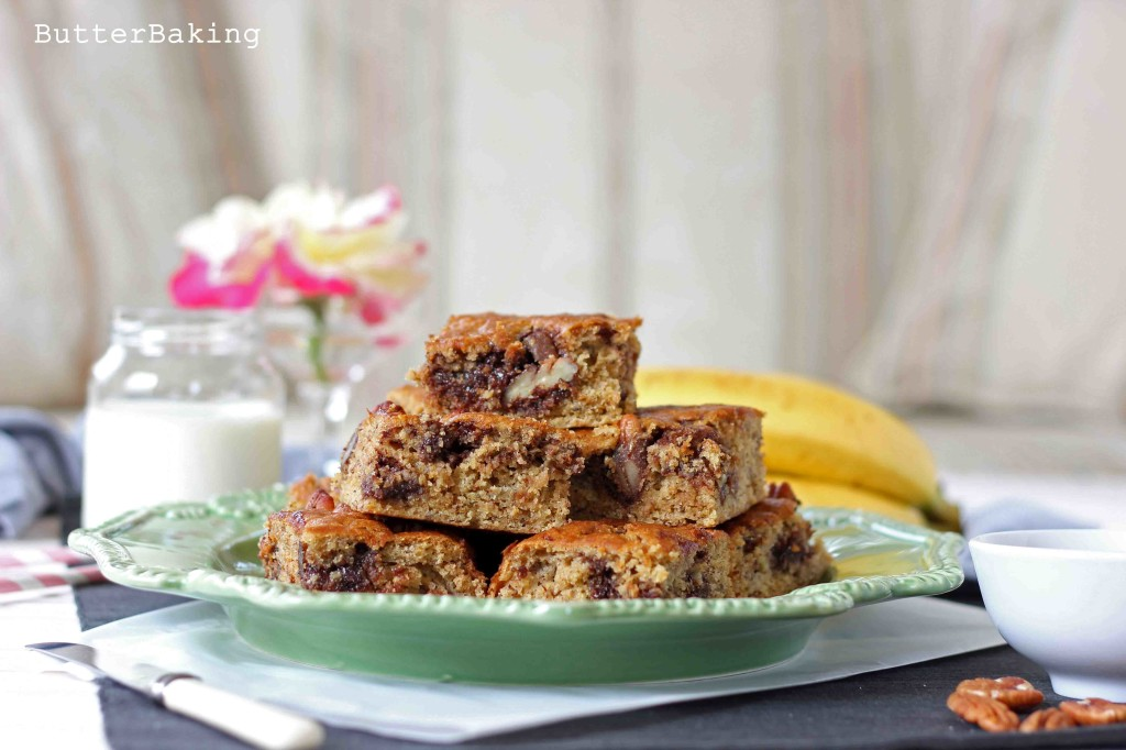 Banana, Nutella and Pecan Snack Cake | Butter Baking