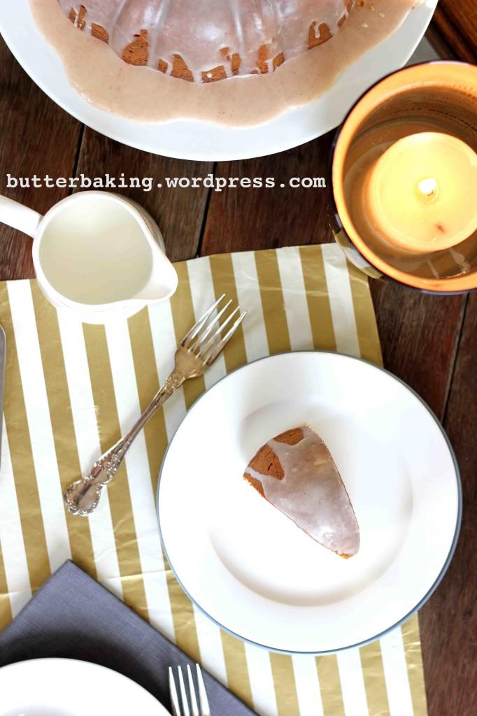 Pumpkin Bundt Cake with Maple Glaze   Butter Baking