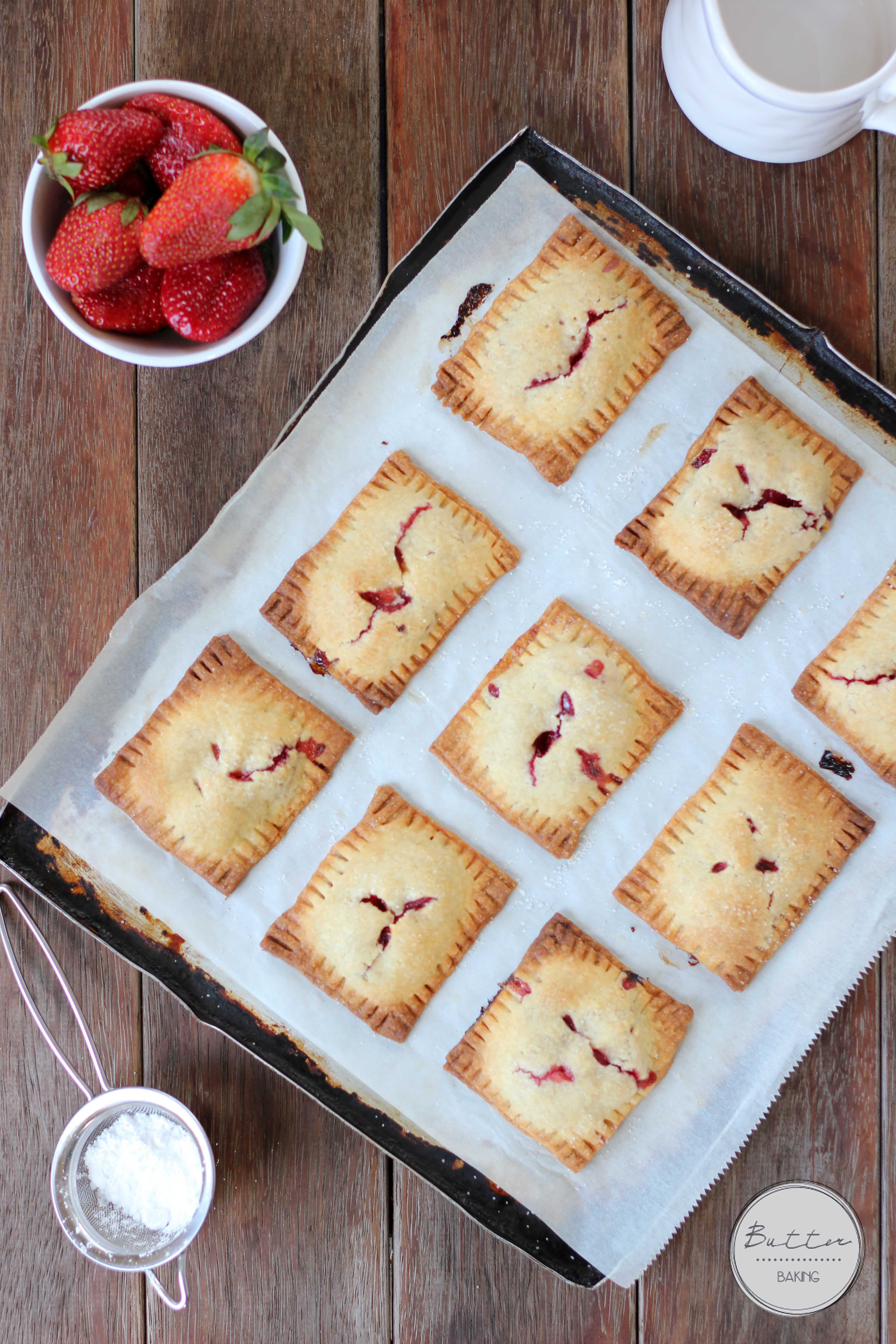 Strawberry custard hand pies | Butter Baking