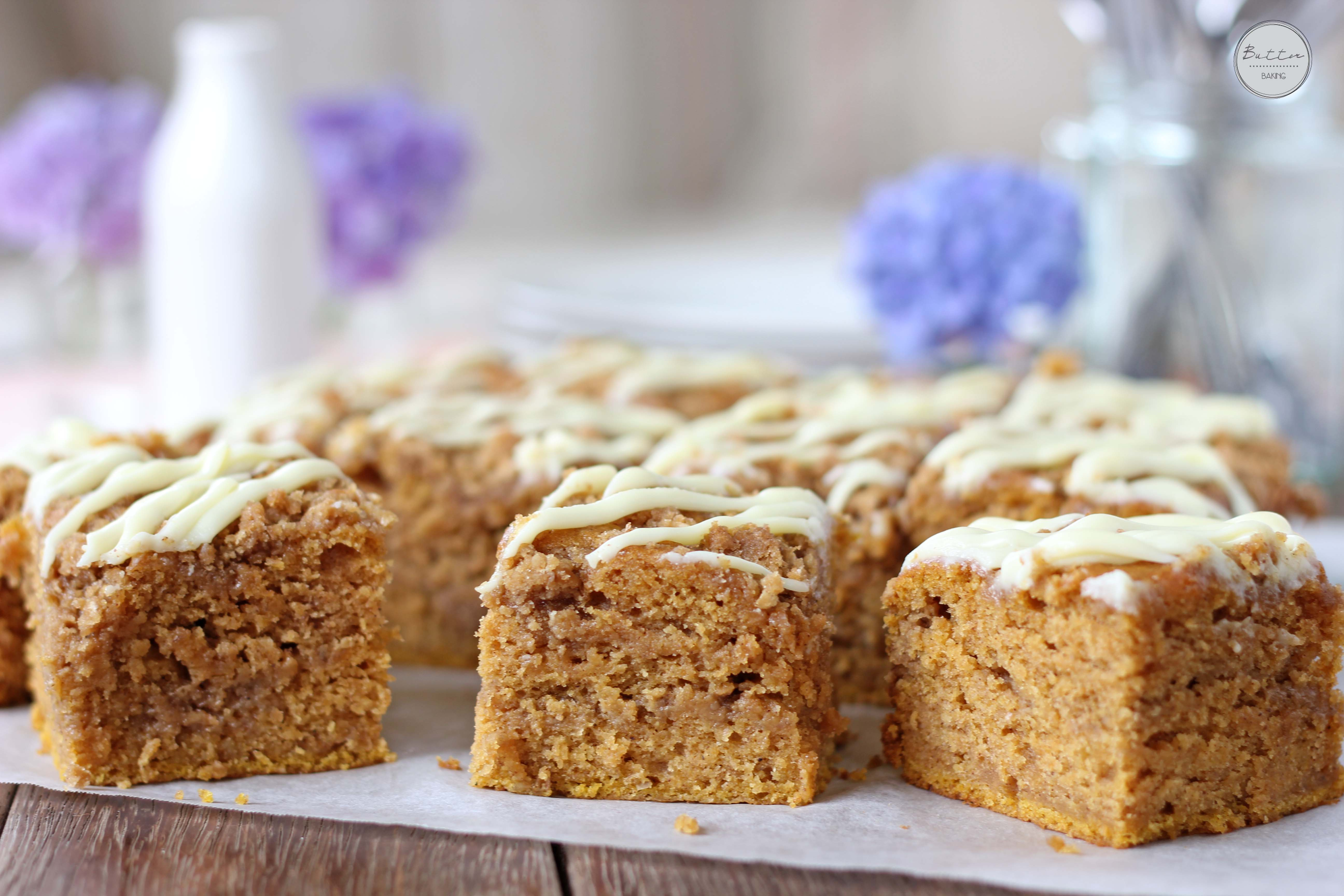 Pumpkin streusel layered sheet cake | Butter Baking