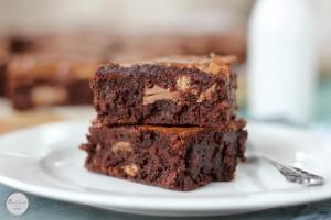 Kit Kat chunk brownies   Butter Baking