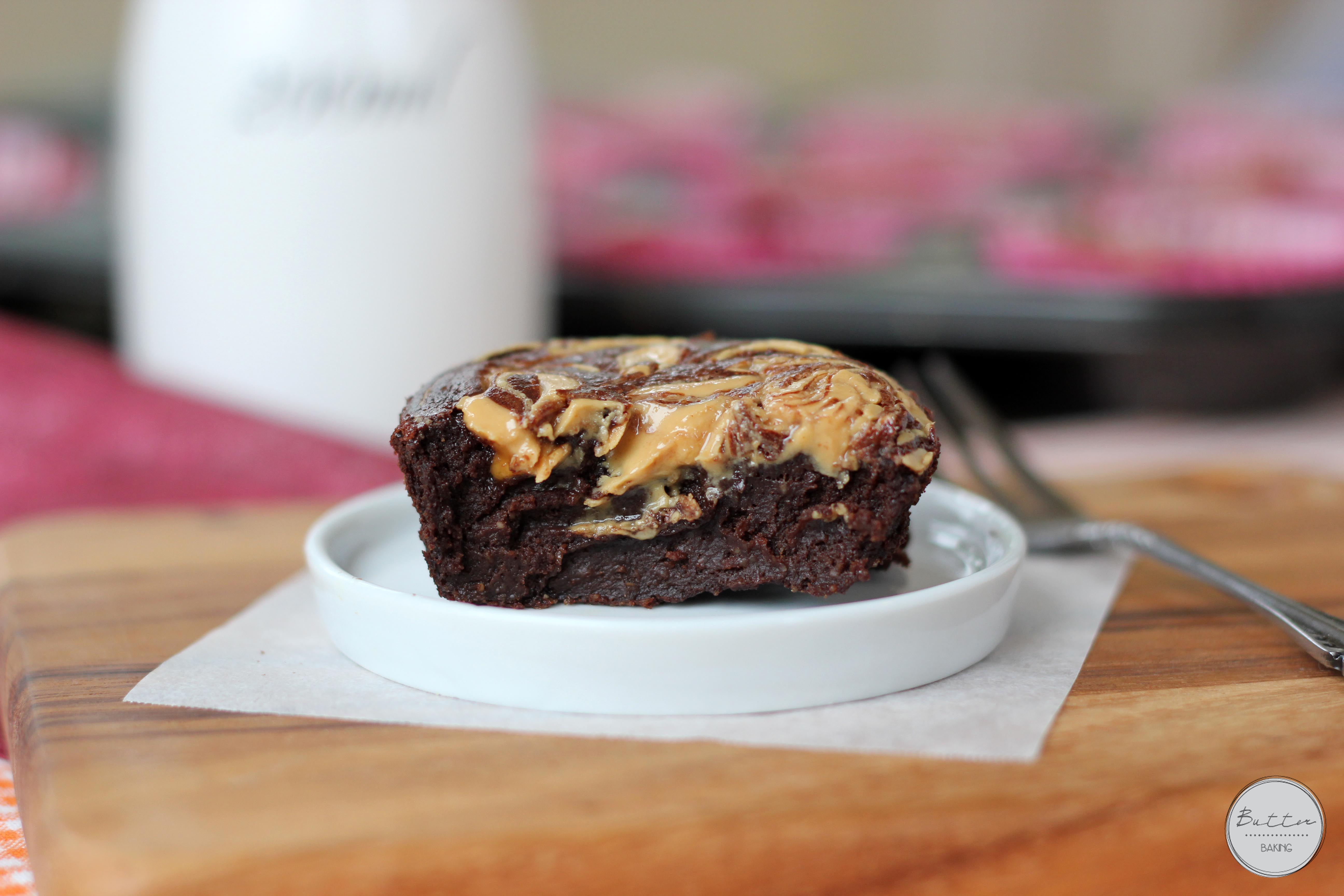 Peanut butter swirled healthy fudge brownies | Butter Baking