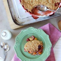 Peach and strawberry cobbler | Butter Baking