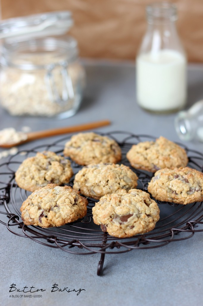 Oatmeal walnut chocolate chip cookies | Butter Baking