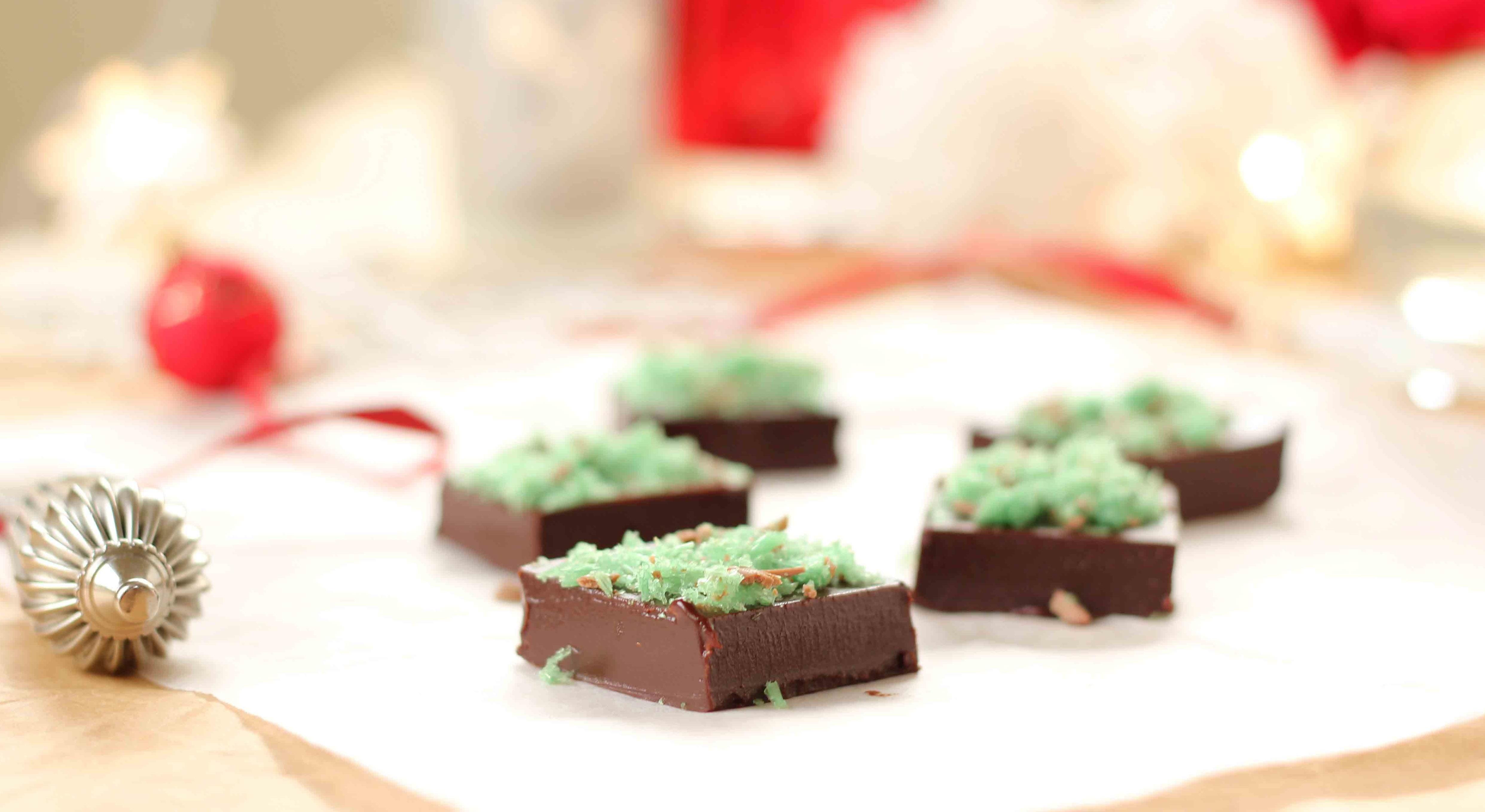 christmas choc peppermint truffles