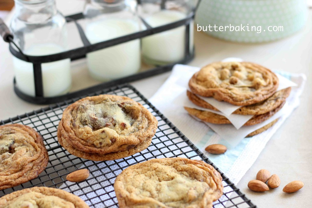 Salted Almond Chocolate Chip Cookies | Butter Baking