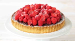 raspberry chocolate tarts