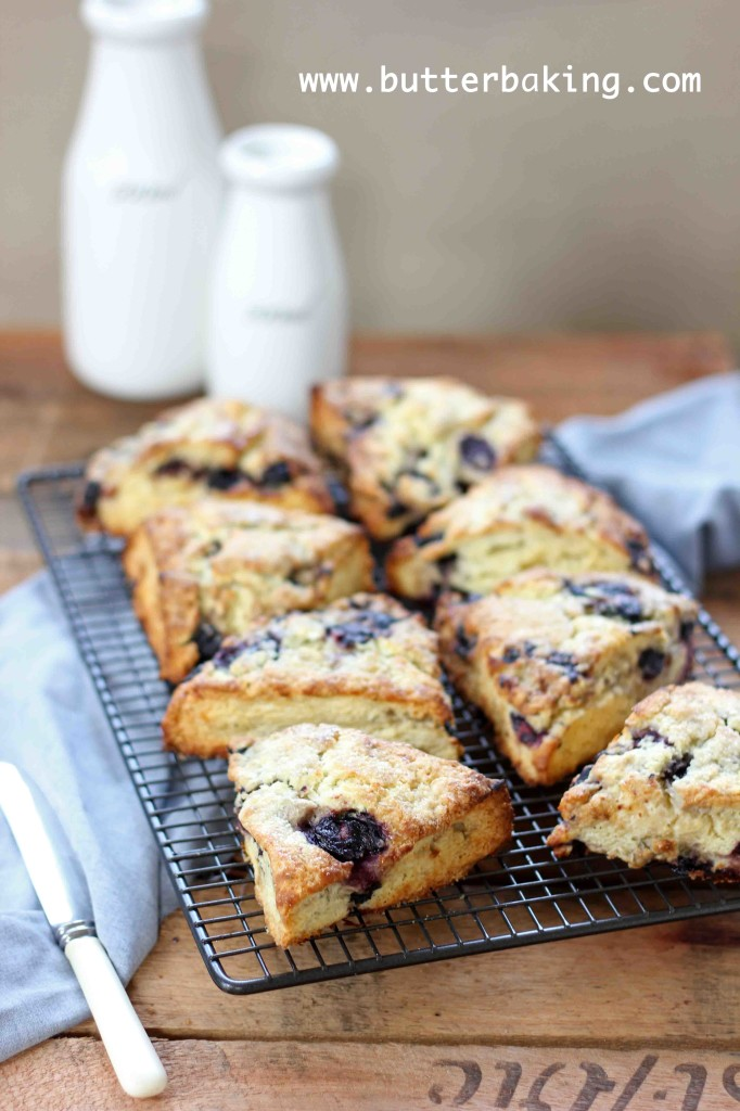 Blueberry and Lemon Buttermilk Scones | Butter Baking
