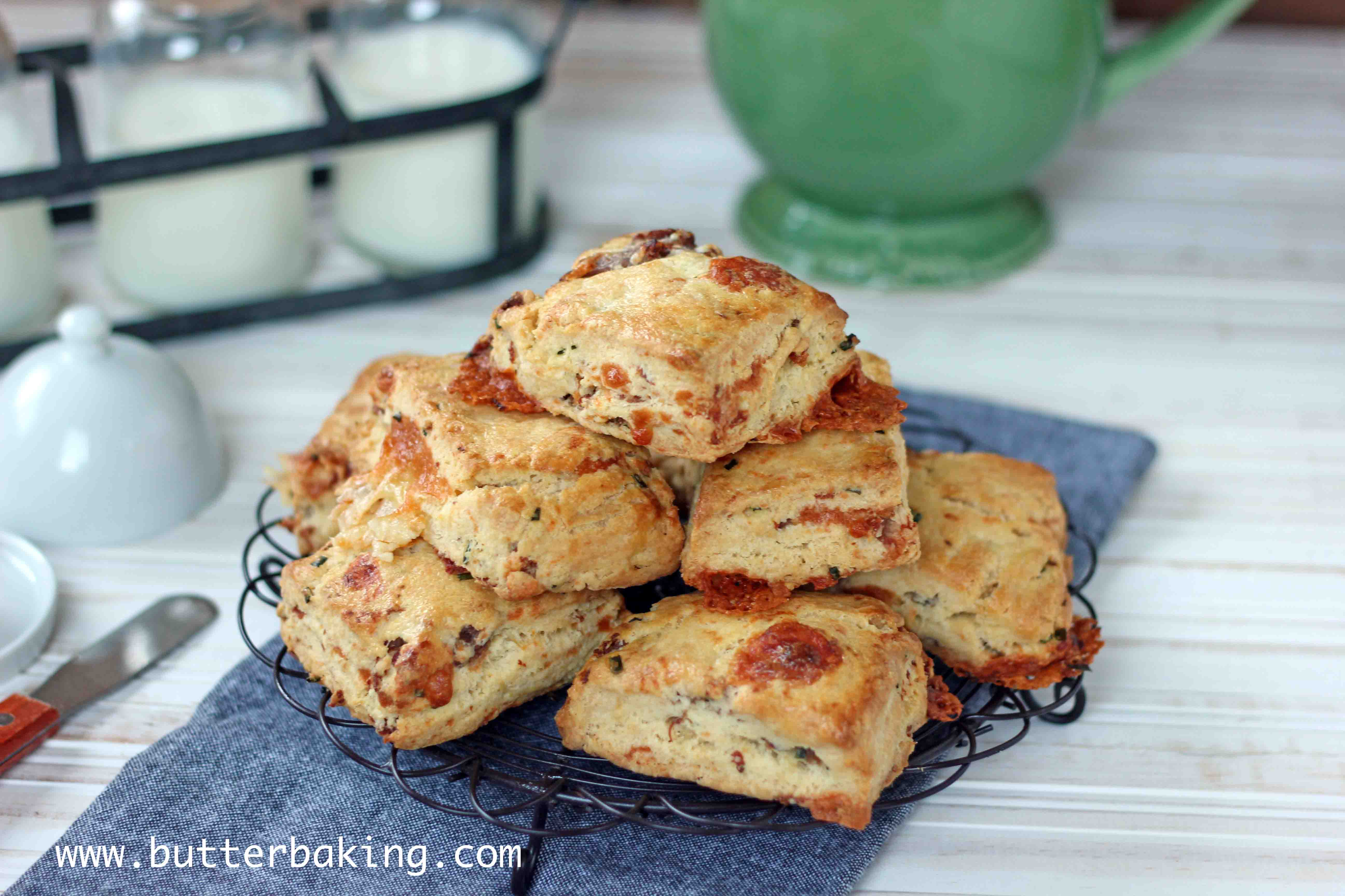 Cheddar, Chive and Prosciutto Scones | Butter Baking