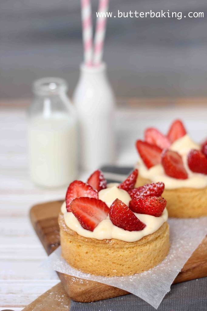 Strawberry and Cream Tarts | Butter Baking