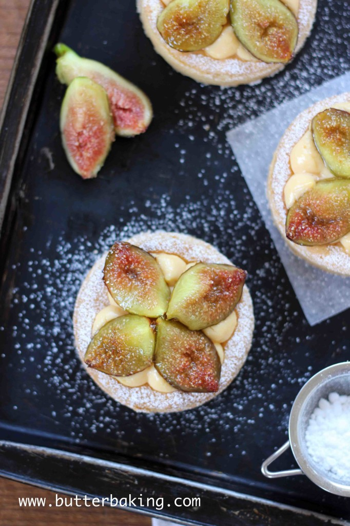Brûlée Fig and Custard Tart | Butter Baking