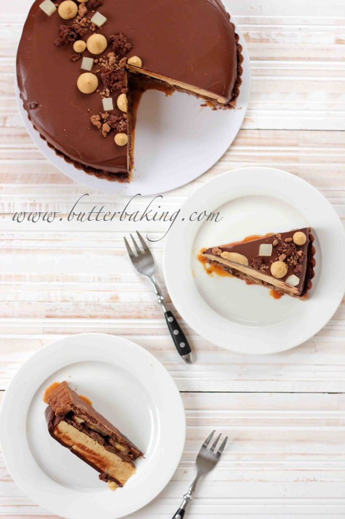 Salted Caramel, Pear and Pecan Chocolate Tart | Butter Baking