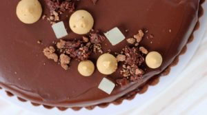caramel chocolate entremet tart