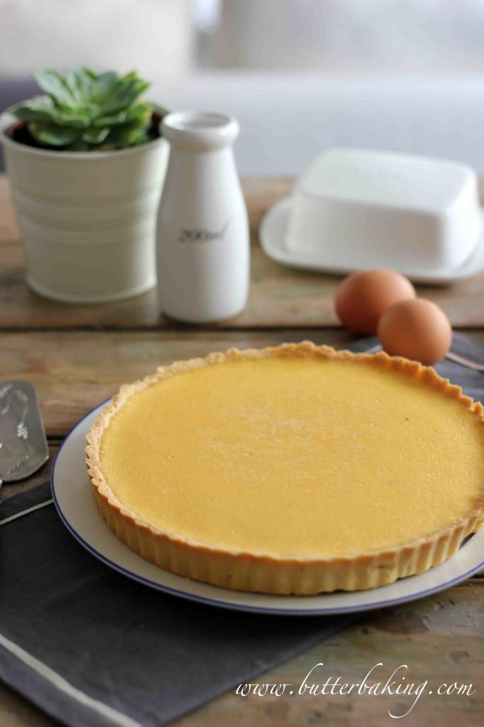 Baked Custard Tart | Butter Baking