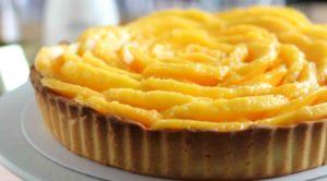 mango cheesecake tart