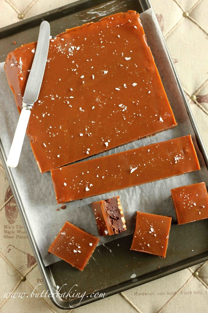 Salted Caramel Pretzel Brownies | Butter Baking