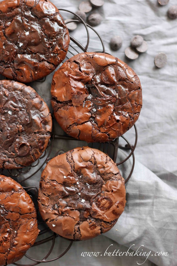Flourless Double Chocolate Fudge Cookies | Butter Baking