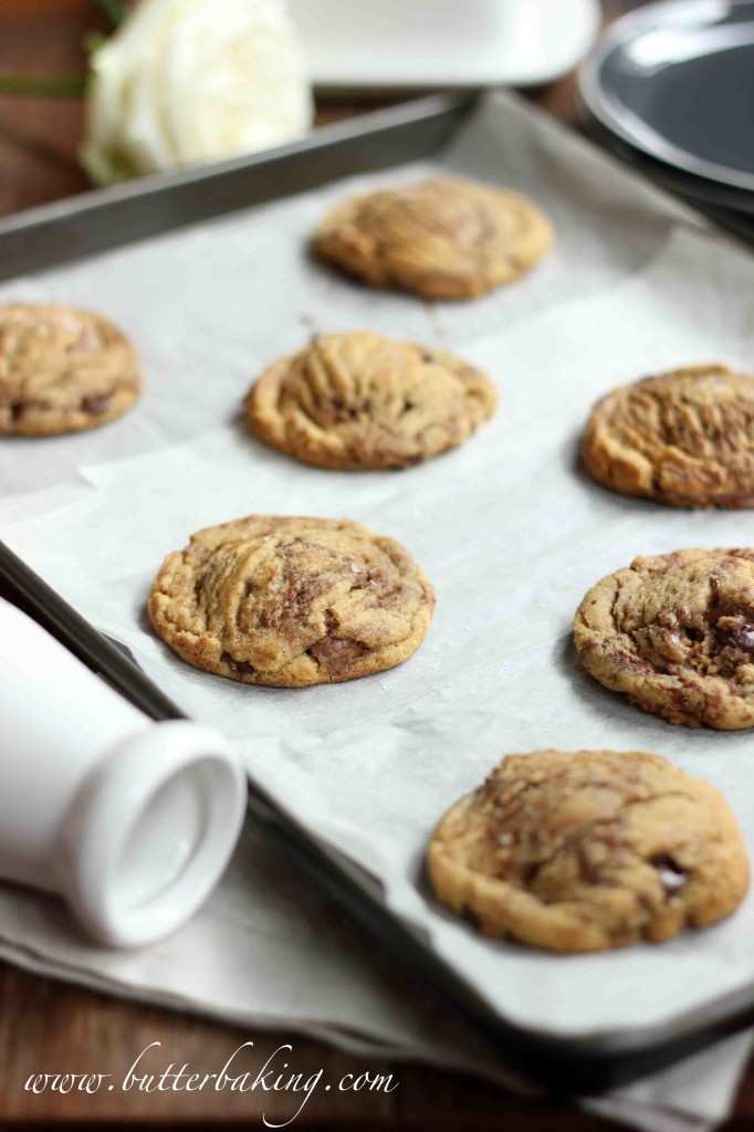 Chocolate Chip Nutella Swirled Cookies | Butter Baking