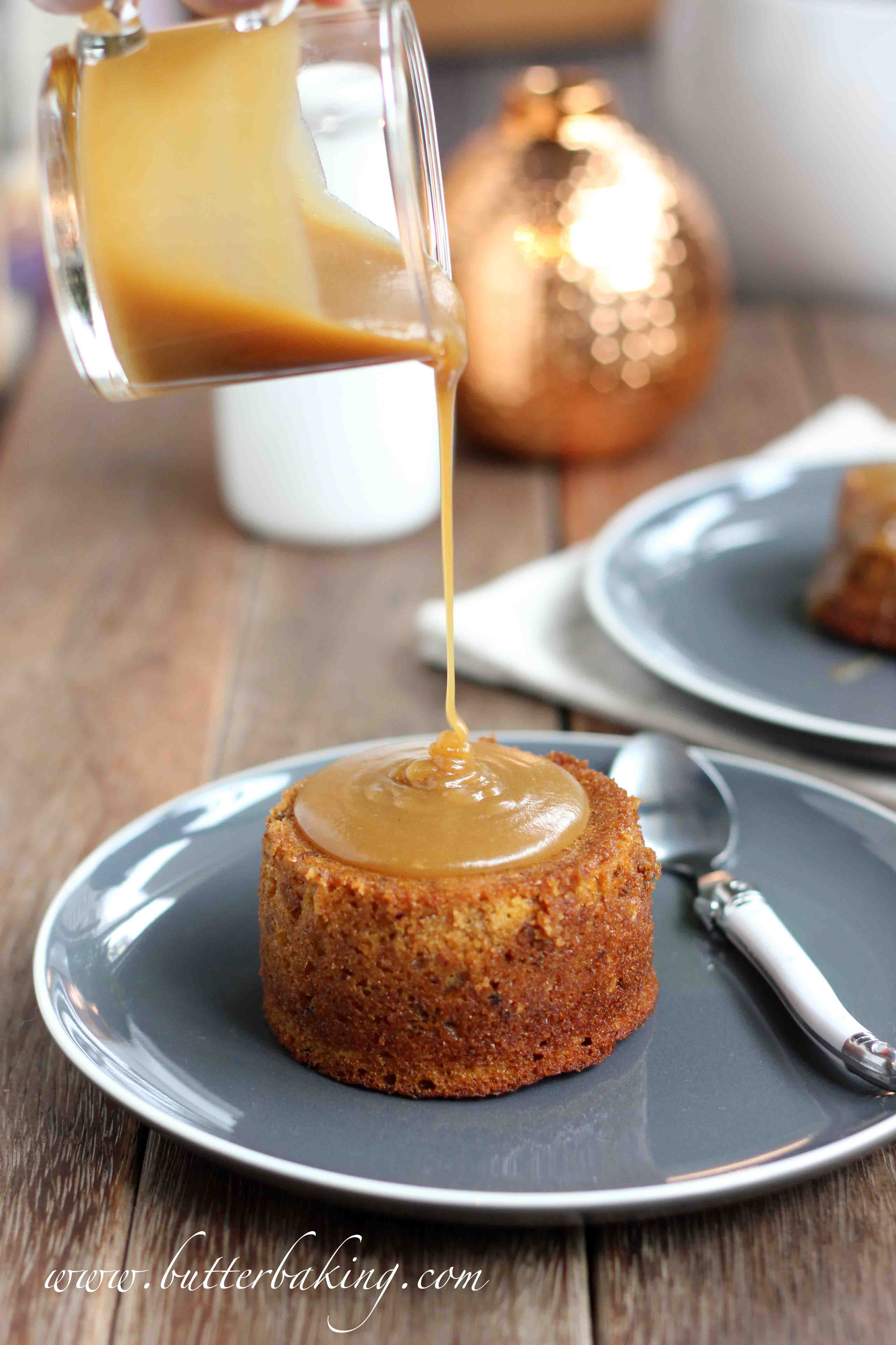Sticky Date Puddings with Butterscotch Sauce | Butter Baking