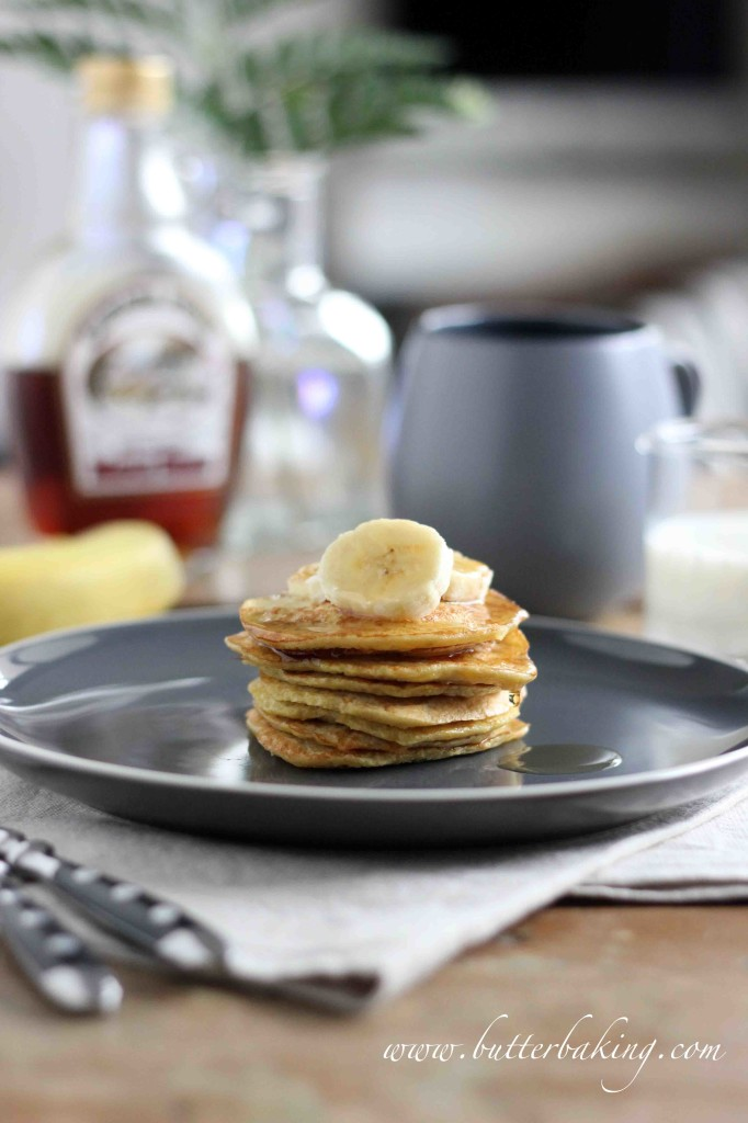 Healthy Two Ingredient Pancakes [Gluten and Dairy Free, No Added Sugar] | Butter Baking