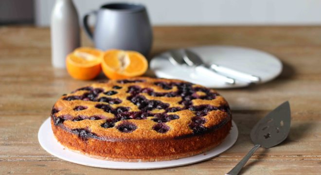 Flourless Mandarin, Almond and Blueberry Cake | Butter Baking