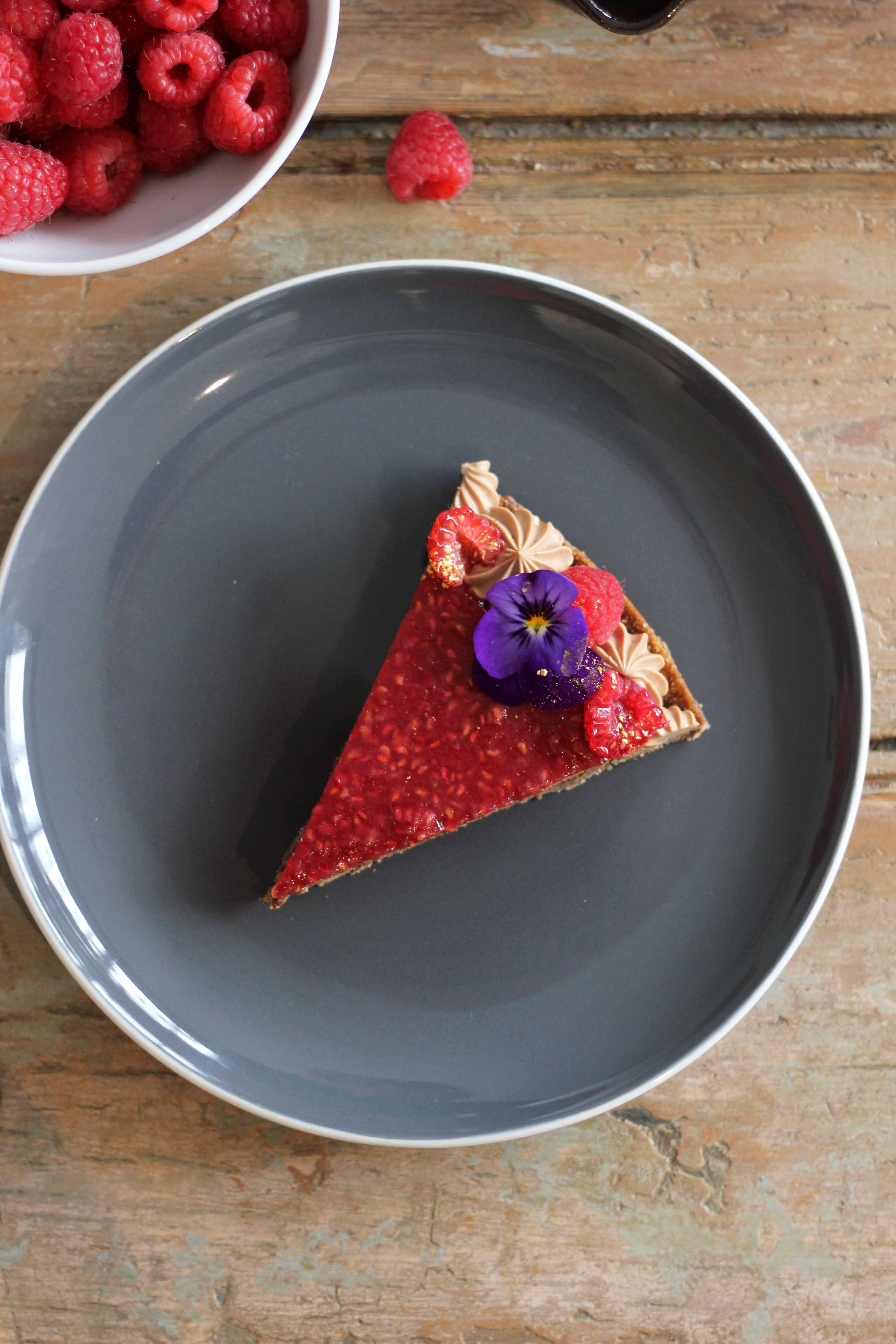Chocolate Mousse and Raspberry Tart | Butter Baking