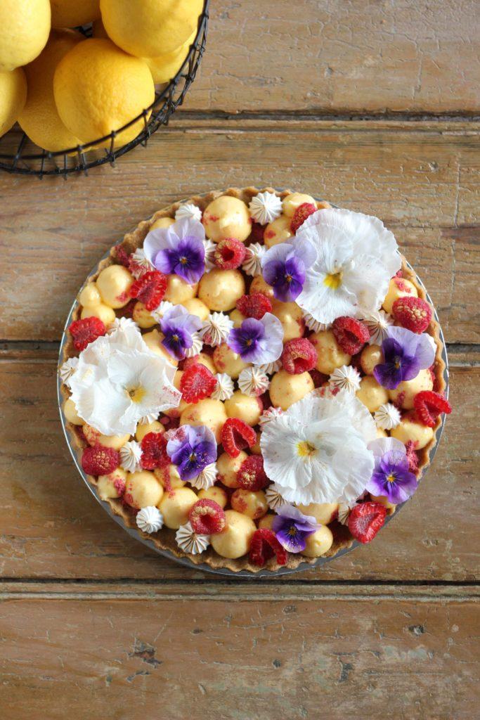 Lemon Meringue and Raspberry Tart | Butter Baking