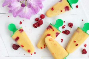 Banana, Mango and Raspberry Popsicles | Butter Baking