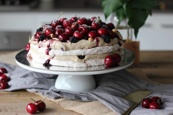 Mocha Blackberry Meringue Cake | Butter Baking