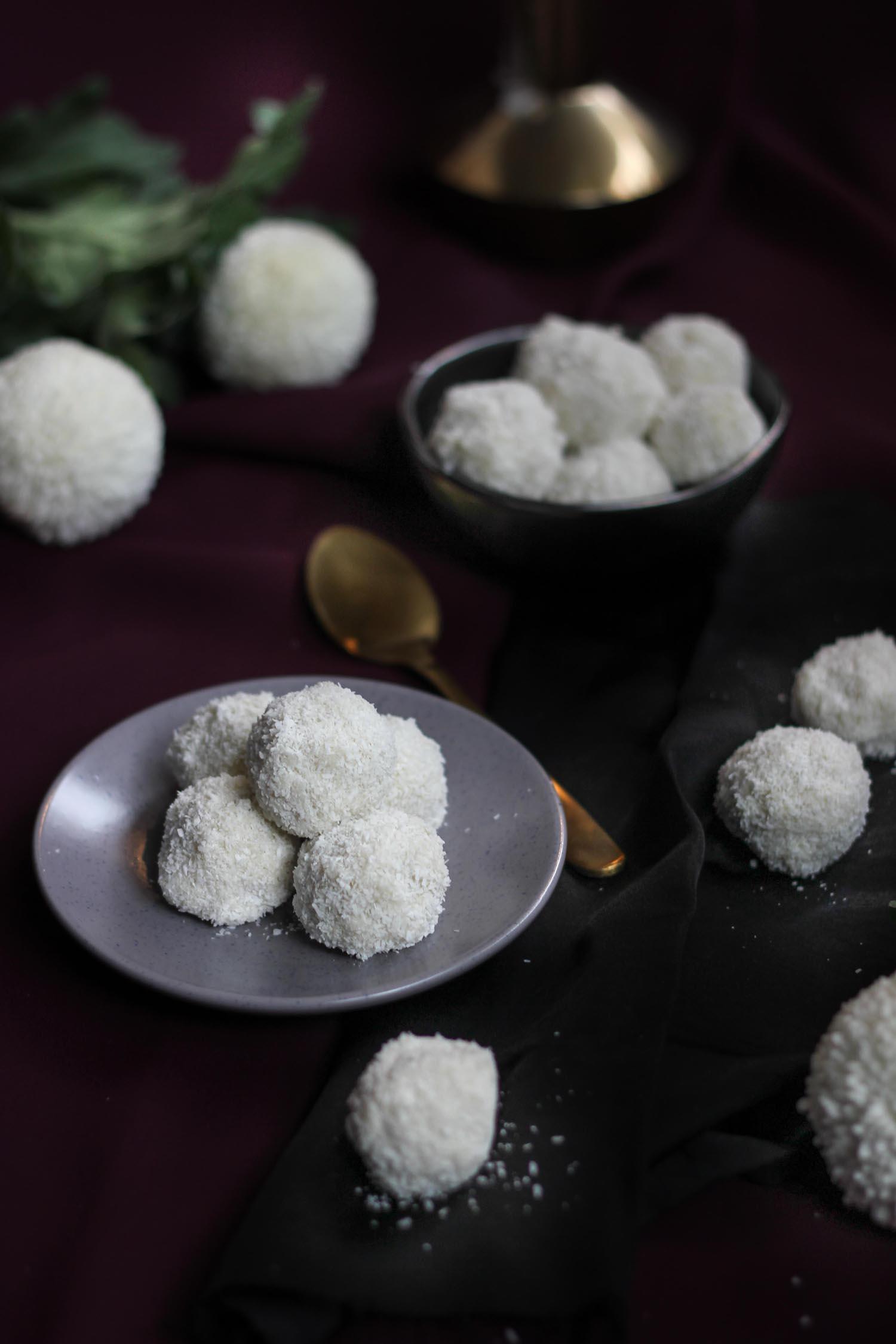 White Chocolate Coconut Raffaello Truffles | Butter Baking