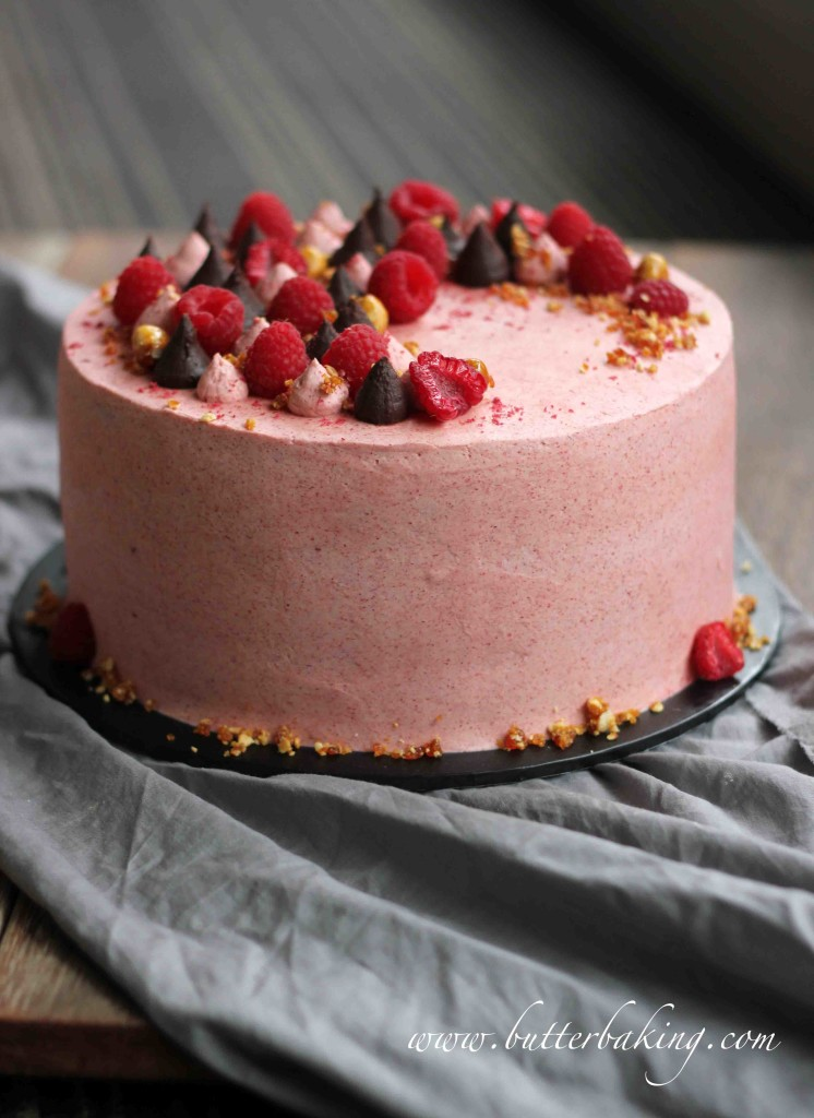 chocolate raspberry cake chocolate raspberry and hazelnut layer cake butter baking 2902